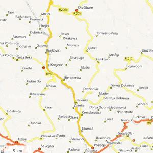 mionica mapa